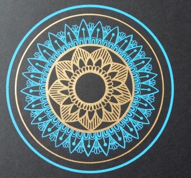 Blue Golden mandala Gellyroll Moonlight-Metallic