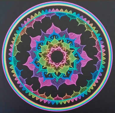 Rainbowcolour mandala